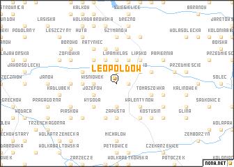 map of Leopoldów