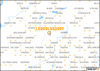 map of Leopoldsdorf