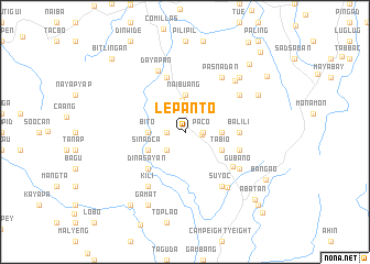 map of Lepanto