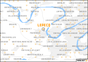 map of Le Pecq