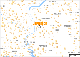 map of Lepenica