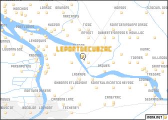 map of Le Port de Cubzac