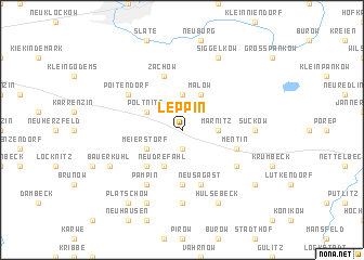 map of Leppin