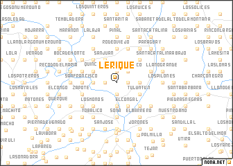 map of Lérique