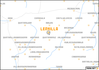map of Lermilla