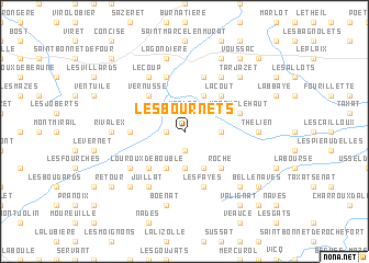 map of Les Bournets
