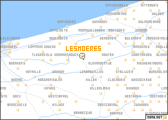 map of Les Moëres