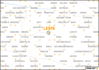 map of Leśne