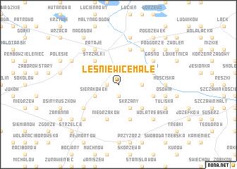 map of Leśniewice Małe