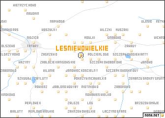 map of Leśniewo Wielkie