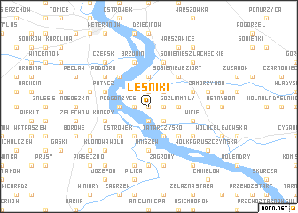 map of Leśniki