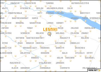 map of Leśniki