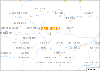 map of Lesquerde