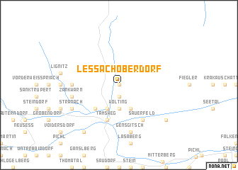 map of Lessach Oberdorf