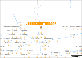 map of Lessach Unterdorf
