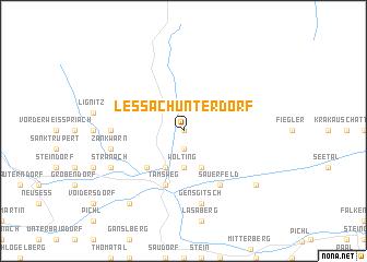 map of Lessach Unterdorf