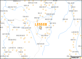 map of Lesseb