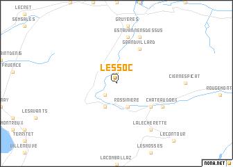 map of Lessoc