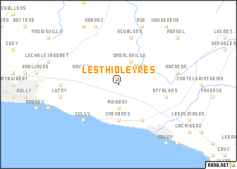 map of Les Thioleyres
