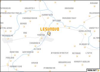 map of Lesunovo