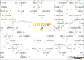 map of Leszczyny