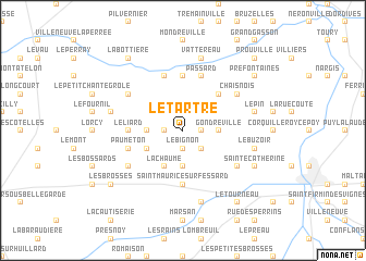 map of Le Tartre