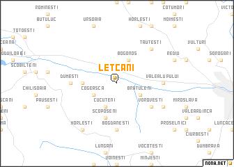 map of Leţcani