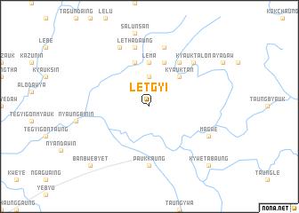map of Letgyi