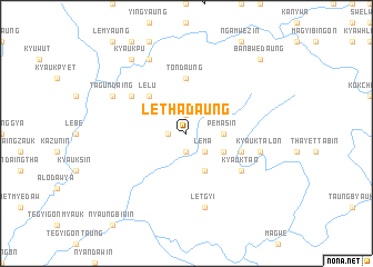map of Lethadaung