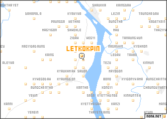 map of Letkokpin