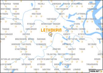 map of Letkokpin