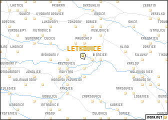 map of Letkovice