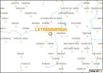 map of Letpadaw Anauk