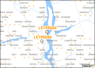 map of Letpadaw