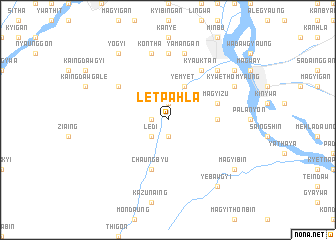 map of Letpahla