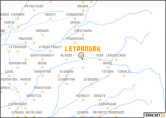 map of Letpandaw