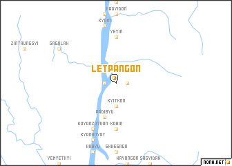 map of Letpangon