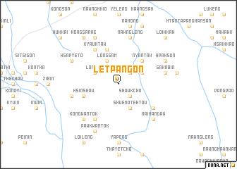 map of Letpangon