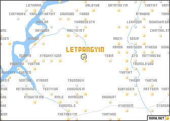map of Letpangyin