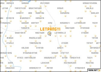 map of Letpangyi