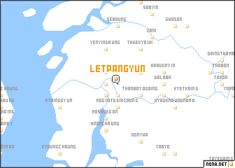 map of Letpangyun