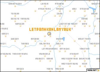 map of Letpanhkahla Myauk