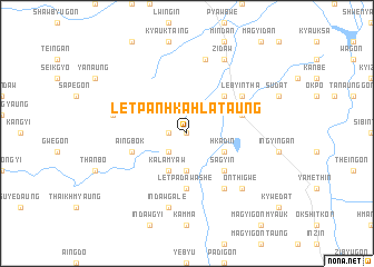 map of Letpanhkahla Taung