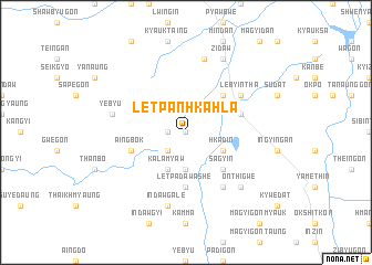 map of Letpanhkahla