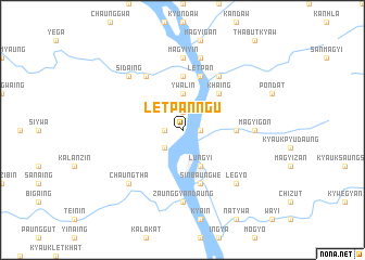 map of Letpanngu