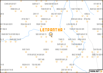 map of Letpantha