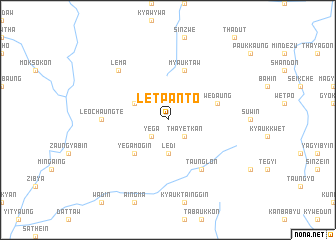 map of Letpanto