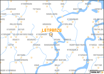map of Letpanzu