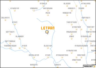 map of Letpan