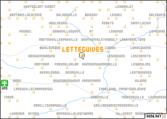 map of Letteguives